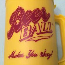 Yellow Insulated Travel Mug Cup 20 oz Beer Ball Makes You Sexy Hartley Amusement