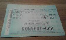 Ticket Hallen Masters 1997, HSV, Hamburger SV,  BVB, FCB, RWO, SGE, S04, SVW, FC