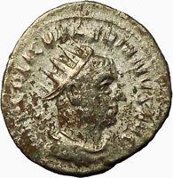 Valerian I  Father of Gallienus Silver Ancient Roman Coin Jupiter Cult  i34940