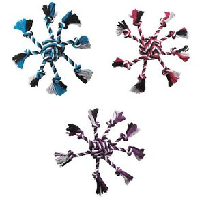ROPE TOYS FOR DOGS Crazy 8 Dog Toy Monkey Fist & Eight Tug Knot Chew Tassels