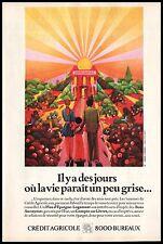 Publicité CREDIT AGRICOLE 8000 CA bureaux psychedelique vintage ad  1969 - 9h