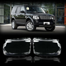 Pair Headlight Headlamp Lens Cover For 2014-2016 Land Rover Discovery 4 LR4