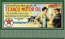 Billboard for Lionel Holder Texaco Motor Oil Let Us Tell You What Oil to Use
