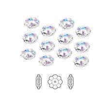 12 Swarovski Crystal Beads Faceted Marguerite Flower 3700 12x4mm