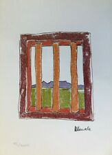 Nelson Mandela The Window from My Robben Island Limited Edition Bookplate Print