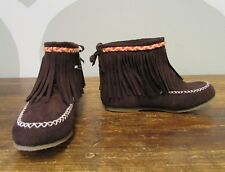Gymboree Girls Brown Tassel Suede Moccasin Boots - 2