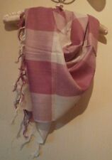 Dusky pink and white ladies scarf. New