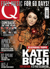 Q Magazine,Kate Bush U2 BONO Jimmy Page Aphex Twin Spandau Ballet Kasabian Marr