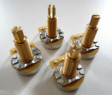 4 POTENTIOMETRES CTS 500K long split shaft (logarithmique) pour toutes guitares