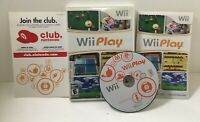 Wii Play Game Nintendo Wii 2007 w/ Case and Manual - Tested