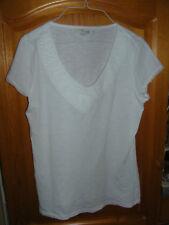 Boden weißes Damen Shirt t-Shirt UK 14 D 40 kurze angeschn Ärmelchen