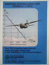 9/1980 PUB AEROSPATIALE TRANSALL C160 S PATMAR MARITIME PATROL AIRCRAFT SAR AD
