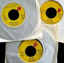 """3 x Classic Rolling Stones 7"""" - Fool To Cry / Miss You / Emotional Rescue"""