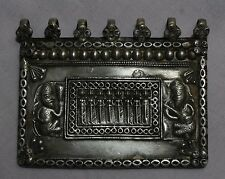 OLD VINTAGE TRIBAL SOUTH INDIAN GODDESS SOLID SILVER AMULET PENDANT S 604