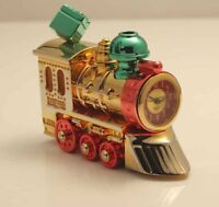 Bulova Miniature Clock Holiday Train I B0410 Brass Collectible