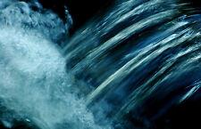 Lámina-Azul agua caer desde una cascada (imagen de arte cartel Scenic)