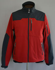 Mens Black Diamond Soft Shell Technical Rain Jacket Red Gray Size Medium