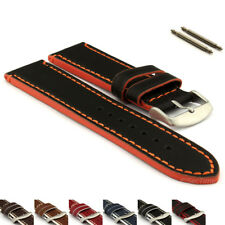 Men's Genuine Leather Watch Strap Band Spring Bars 18 20 22 24 PORTO MM