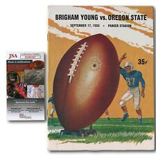 Tommy Prothro Signed 1955 Brigham Young vs. Oregon State Football Program JSA