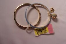 BETSEY JOHNSON DOUBLE BANGLE BRACELET BUZZ OFF COLLECTION NWT
