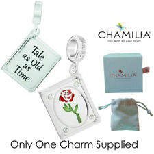 Genuine Chamilia Silver Disney Beauty & Beast Tale As Old As Time Charm Bead