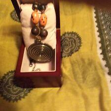 Gold Bead Necklace  EUC