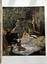 Claude Monet Poster Reprint The Picnic  Offset Lithograph 16x11