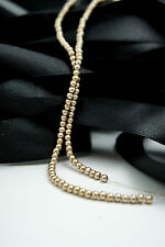 *180 Pearl Beads 3mm Gold Color Imitation Acrylic Round Pearl Spacer*