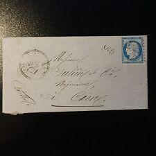 CÉRÈS N°60A SUR LETTRE COVER GC 4599 LONLAY L'ABBAYE INDICE 11 PR CAEN CACHET OR