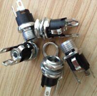 5 pcs DC Power Plug Jack Socket Female Connector 2.1x5.5mm PCB Panel Mount