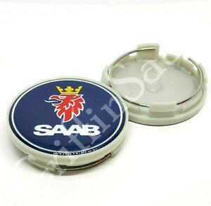 1 X Saab Blue Alloy Wheel Centre Hub Cap 62mm 63mm 93 9-3 95 9-5 900 9000