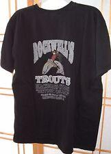 Rockwells Trouts Blackboard Stages Oildale Bakersfield Ca Black Tee XL Defunct