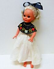 "Vintage Furga Italy Valentina Alta Moda Fashion Doll 15"" - Sleep Eyes"