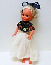 "Vintage Furga Italy 15"" Mia  Doll with Sleep Eyes and rooted hair-Marked Furga"