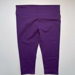 Fabletic Purple Crop Leggings Women's Size XXL