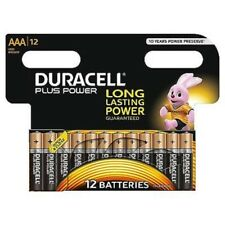 DURACELL PLUS POWER TYPE AAA ALKALINE BATTERIES 1.5V PACK OF 12