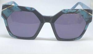 High Quality L.A.M.B Sunglasses LA549 TURQUOISE/BLCK Frame 53-19-140 B:45