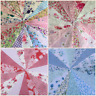 FABRIC BUNTING,HANDMADE VINTAGE,SHABBY CHIC,FLORALS.WEDDINGS,FETES,PARTIES