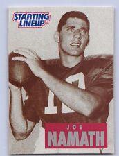 "1998  JOE NAMATH - Starting Lineup Card - ""LEGENDARY BEGINNINGS"" - N.Y. JETS"