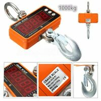 1000KG 1Ton 2000LBS LCD Digital Crane Scale Hook Hanging Weighing Heavy Duty