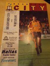 1.1.94 Bradford City v Wrexham programme Division Two