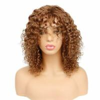 Blonde Lace Front Human Hair Wig Kinky Curly Virgin Malaysian Full Lace Wigs #30