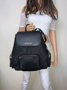 Michael Kors  Abbey Large Cargo Nylon Backpack Black