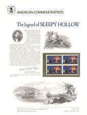 #39 10c Sleepy Hollow #1548  USPS Commemorative Stamp Panel