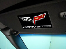 C5 C6 Corvette 1997-2013 Sunvisor Airbag Label Covers - Gel Logos