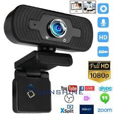 1080P Full HD USB Webcam for Win 10/8/7 Mac/Xbox One Web Camera w/Microphone