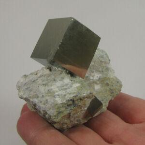 PYRITE CUBE Crystals on Matrix - Navajun, Spain