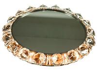 Wand Spiegel Palwa / Bakalowits Kristallglas beleuchtet Vintage Mirror 50er 60er