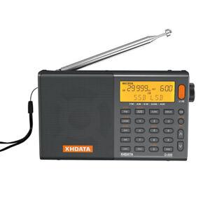 XHDATA D-808 Radio FM Stereo MW LW SW SSB AIR Band RDS Shortwave Receiver Gifts