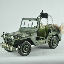 Handmade Military Vehicle Jeep Off-road 1:12 Tinplate Antique Style Metal
